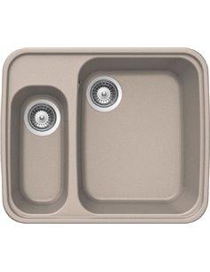 """Reginox virtuves izlietne Genova Sandbeige 3,5""""x2 (c/box) - 1"""