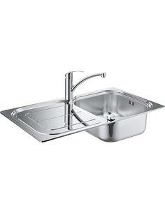 Set: Grohe Eurosmart 31565SD0 Kitchen basin K300 31563SD0 + Mixer Eurosmart 33281002  - 1