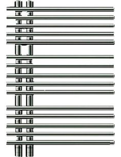 Zehnder Heated Water Towel Rail Yucca Star YASC-070-050 - 1