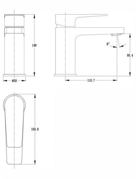 Keramiskās izlietnes jaucējkrāns BALTS/HRO FS1126-6 MAGMA BALTS/HRO - 2