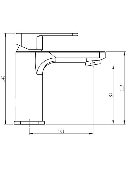 Keramiskās izlietnes jaucējkrāns MG-2560/L MAGMA MALTA/L - 2