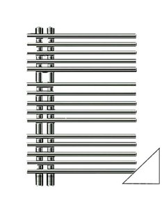 Zehnder Heated Water Towel Rail Yucca Star YAS-070-050 - 1