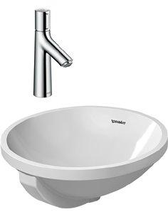 Set:  Mixer Hansgrohe Talis Select S 72042000 for basin + Рукомойник Duravit Architec 0468400000 - 1