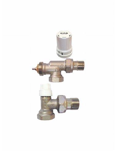 Komplekts, atpakaļgaita+termostatiskais ventilis aksiālais+galva,leņķa - 1