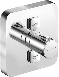 Kludi Bath Thermostatic Mixer With Shower Push 388110538 - 1