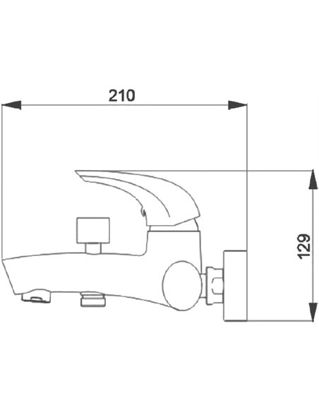 Raiber jaucējkrāns vannai ar dušu Zenta R9004 - 3