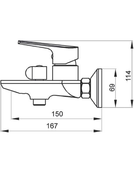 Raiber jaucējkrāns vannai ar dušu Zinger R1503 - 2