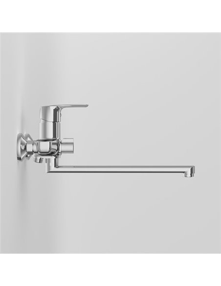 AM.PM jaucējkrāns vannai ar dušu Gem F90A90000 - 4
