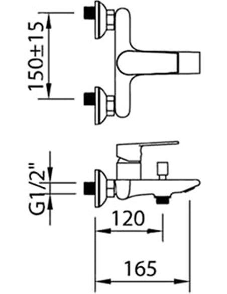 Clever jaucējkrāns vannai ar dušu Agora Xtreme 60110 - 2