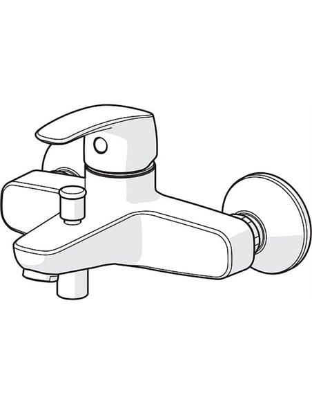 Oras jaucējkrāns vannai ar dušu Safira 1040U - 2