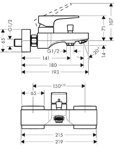 Hansgrohe jaucējkrāns vannai ar dušu Metropol 32540140 - 2