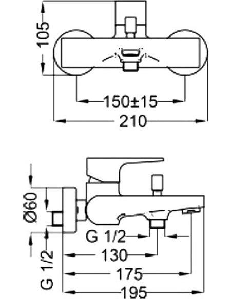 Sturm jaucējkrāns vannai ar dušu Air ST-AIR-13060-CR - 2