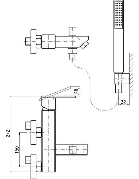 Rav Slezak jaucējkrāns vannai ar dušu Loira - 2