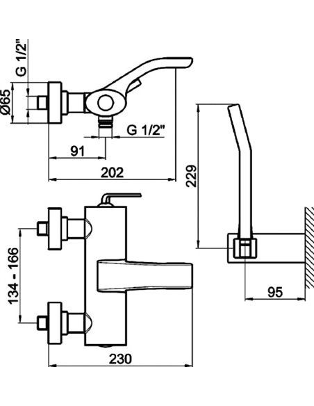 Webert jaucējkrāns vannai ar dušu Wolo WO850101564 черный - 6