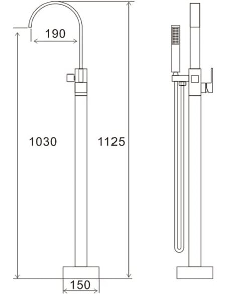 Swedbe jaucējkrāns vannai ar dušu Spira 4003 - 2