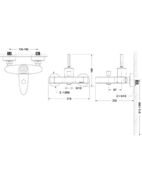 Bravat jaucējkrāns vannai ar dušu Spring F679113C-01 - 4