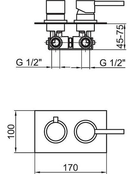 Webert jaucējkrāns vannai ar dušu Elio EL860101015 - 2