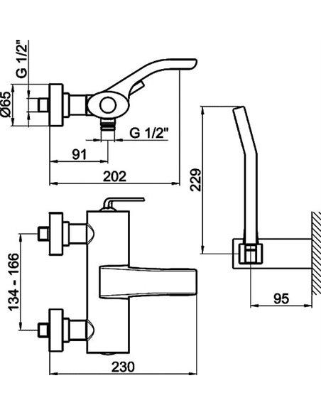 Webert jaucējkrāns vannai ar dušu Wolo WO850101015 хром - 6