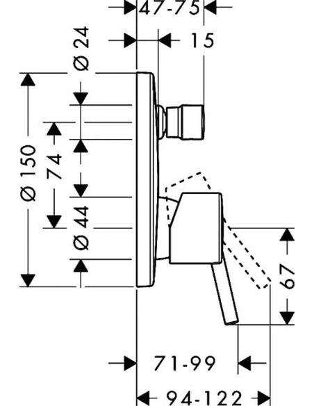 Hansgrohe jaucējkrāns vannai ar dušu Talis S 32475000 - 2