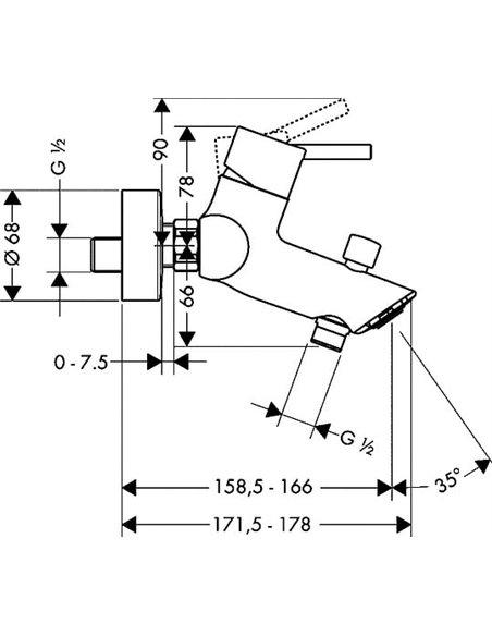 Hansgrohe jaucējkrāns vannai ar dušu Talis S2 32440000 - 4