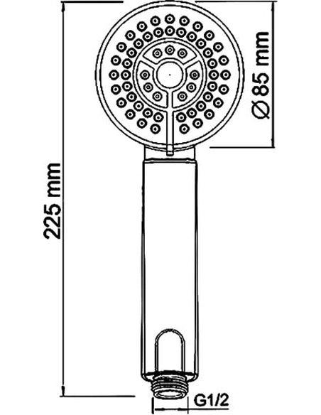 Wasserkraft jaucējkrāns vannai ar dušu Aller 1061 - 14