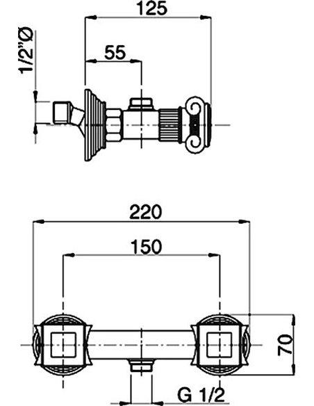 Cezares dušas jaucējkrāns Olimp DS 01 Sw - 3