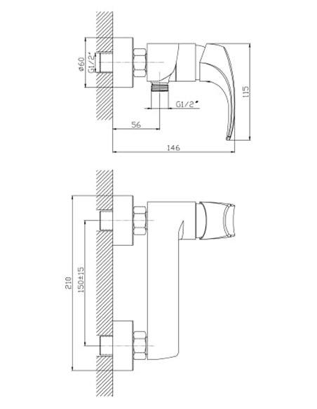 1 Orange dušas jaucējkrāns Astin M21-200cr - 2