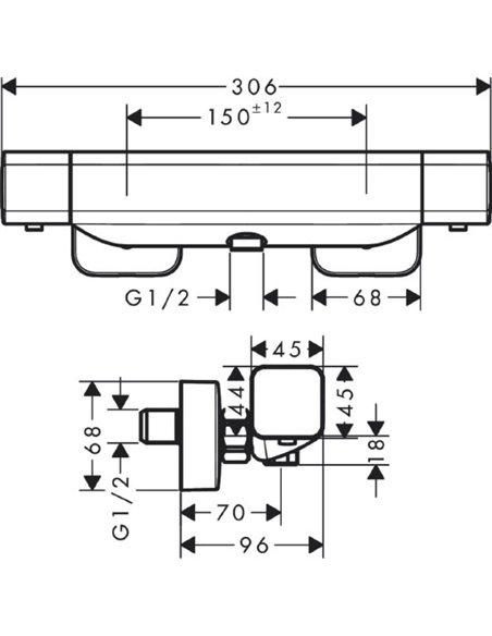 Hansgrohe termostata jaucējkrāns dušai Ecostat E 15773000 - 4