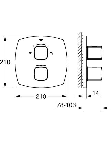 Grohe termostata jaucējkrāns dušai Grandera 19937IG0 - 2