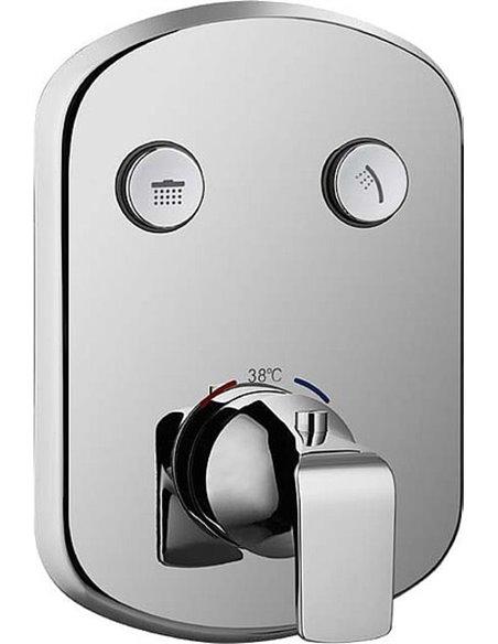 Cezares termostata jaucējkrāns dušai Globo-F-VDIM2-TB-01 - 1