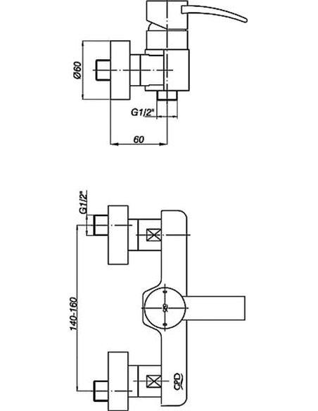 GPD dušas jaucējkrāns Aduro MDB95 - 5