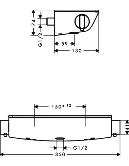 Hansgrohe termostata jaucējkrāns dušai Ecostat Select 13161000 - 14