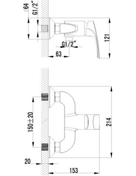 Lemark dušas jaucējkrāns Plus Shape LM1703C - 2
