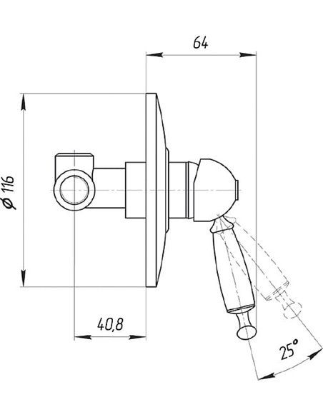 Bugnatese dušas jaucējkrāns Oxford 6330BR - 2