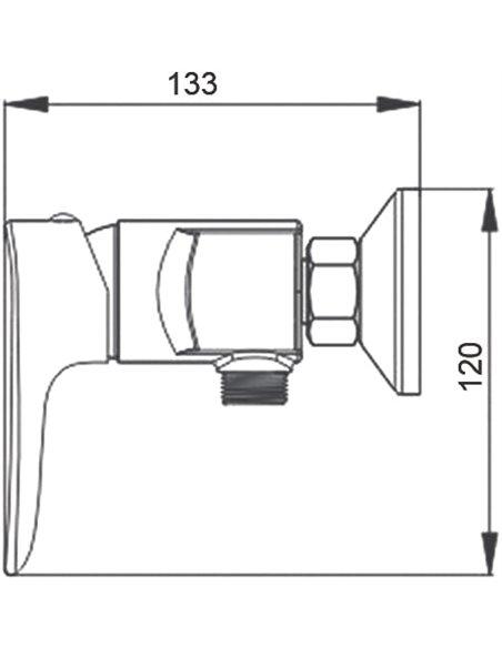 Raiber dušas jaucējkrāns Nova R2501 - 4