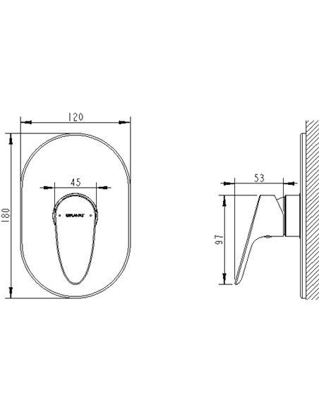 Bravat dušas jaucējkrāns Drop PB84898CP-RUS - 2