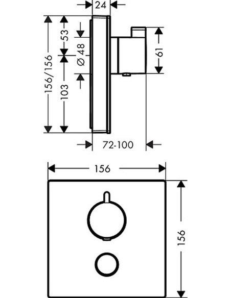 Hansgrohe termostata jaucējkrāns dušai ShowerSelect 15735600 - 2