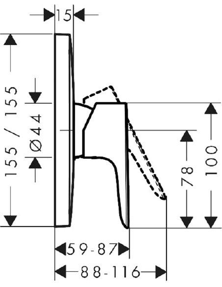 Hansgrohe dušas jaucējkrāns Talis E 71765140 - 2