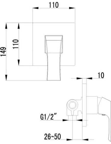 Lemark dušas jaucējkrāns Unit LM4523C - 2