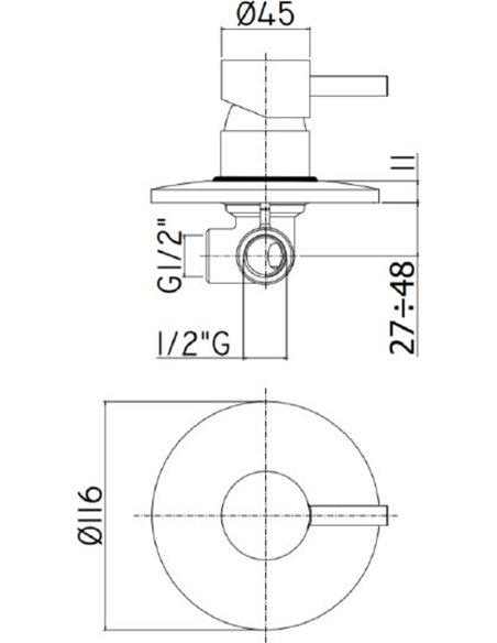 Paffoni dušas jaucējkrāns Light LIG011NO - 2