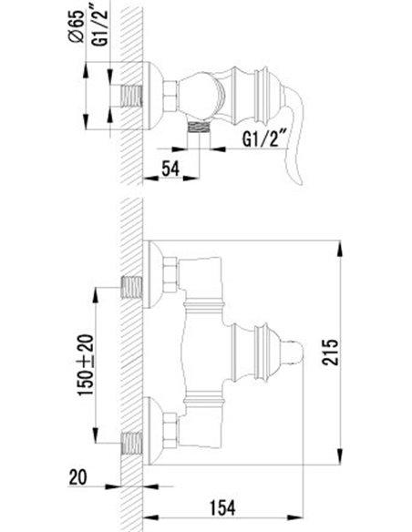 Lemark dušas jaucējkrāns Brava LM4703G - 2