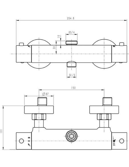 Swedbe termostata jaucējkrāns dušai Hermes 9021 - 4