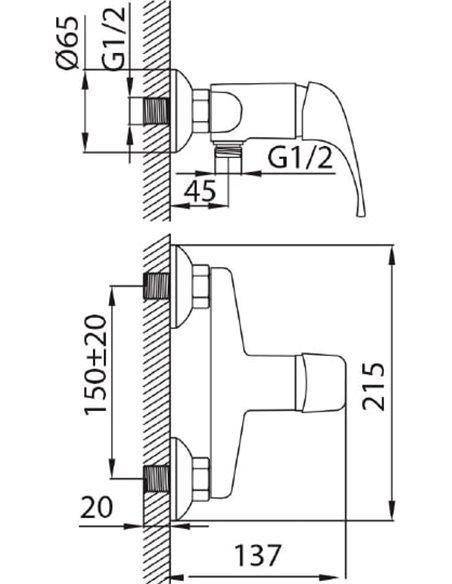 Milardo dušas jaucējkrāns Davis DA1SBNAM03 - 5