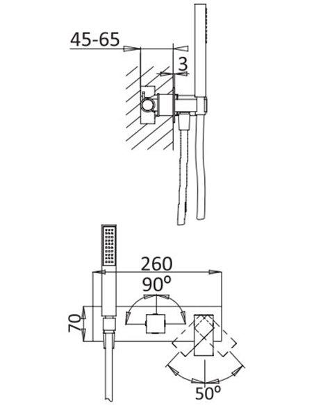 Cezares dušas jaucējkrāns Porta VDM2 NOP - 2