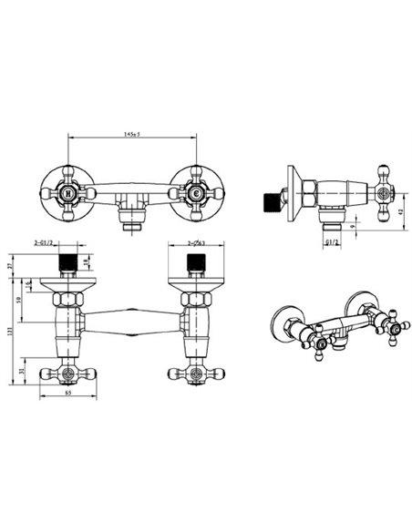 Boheme dušas jaucējkrāns Crystal 294-CRST - 2