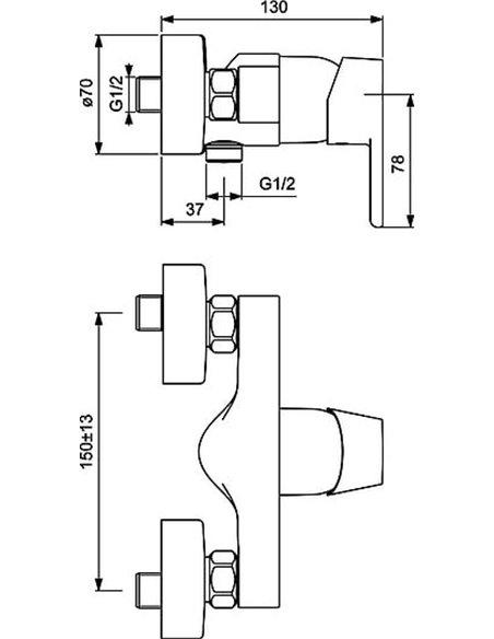 Ideal Standard dušas jaucējkrāns Vito B0411AA - 2