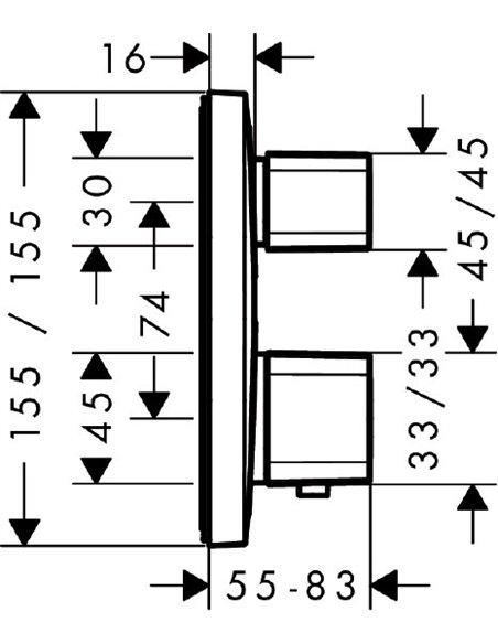 Hansgrohe termostata jaucējkrāns dušai Ecostat E 15707000 - 2