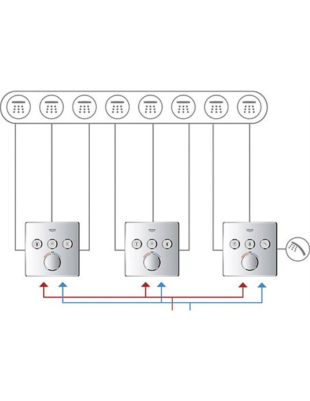 Grohe termostata jaucējkrāns dušai Grohtherm SmartControl 29126000 - 20