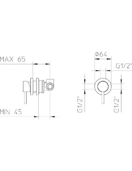 Bossini dušas jaucējkrāns Z10201410BOS001 CR - 2