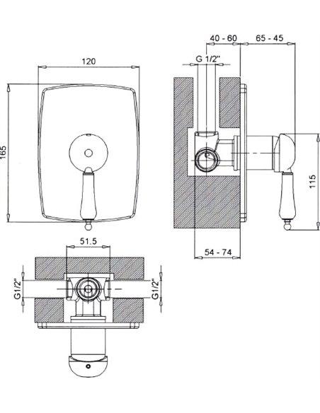 Margaroli dušas jaucējkrāns Classica RU1007AA01CR - 2